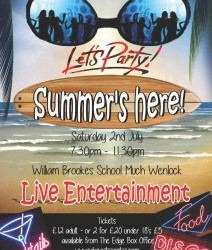 Saturday 2nd July - Lets Party-summer is here!