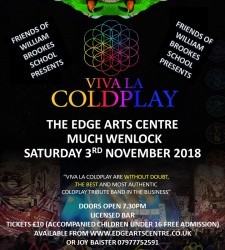Saturday 3rd November: Viva La Coldplay