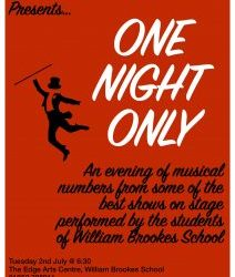 Tuesday 2nd July - WBS Presents: One Night Only! 14+