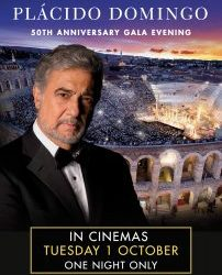 Tuesday 1st October - Plácido Domingo: 50th Anniversary Gala Evening